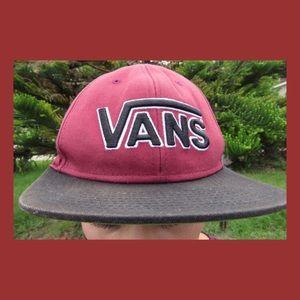 Maroon Vans SnapBack